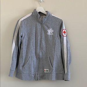 Canada Olympic Zip Up Sweatshirt Grey Medium